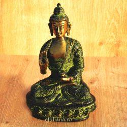 Buddha statueta de bronz antichizat