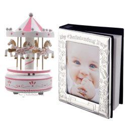 Album foto carusel muzical roz cadou fetita
