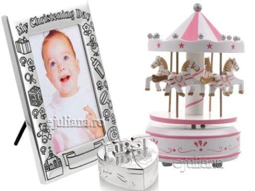 Cadou fetita carusel muzical rama foto set bucla dintisor