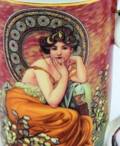 Cana de portelan fin Alphonse Mucha