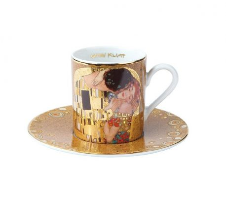 Set cesti espresso portelan fin Gustav Klimt