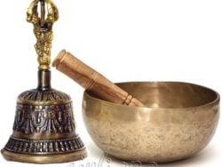 Clopotel tibetan si bol cantator batut manual