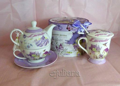Ceainic tea for one cana cu infuzor lavanda
