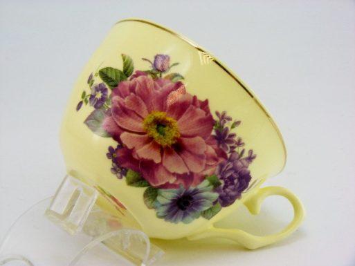 Set cesti de cafea portelan fin flori