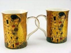 Set doua cani de portelan Gustav Klimt