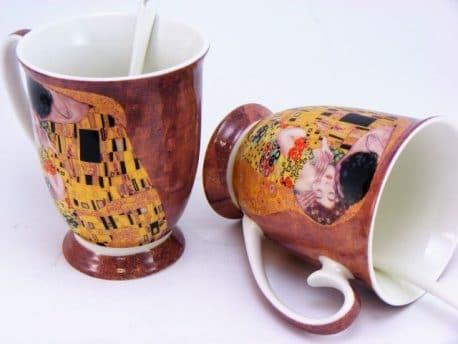 Set doua cani de cafea din portelan fin Gustav Klimt