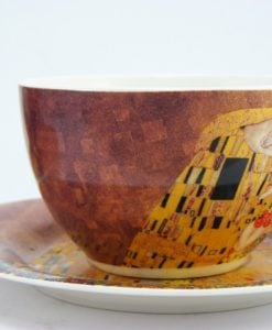 Set doua cesti de cafea portelan fin Gustav Klimt