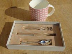 Set tacamuri argintate cana cadou fetita Juliana