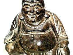 Statueta de lemn sculptat Buddha gras