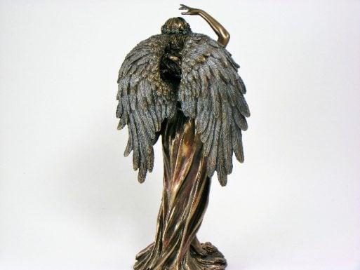 Statueta de birou antichizata Zeita Fortuna