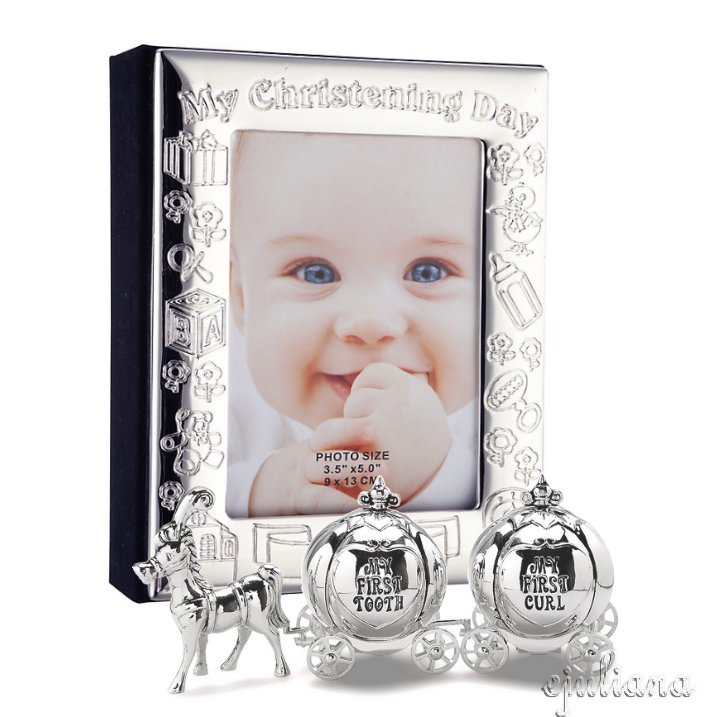 Album argintat si set mot si primul dintisor caleasca idei de cadouri pentru fetita din colectia Juliana
