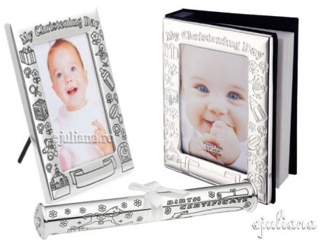 Cadou botez album rama foto suport pentru certificat