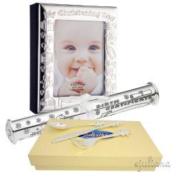 Album de botez suport certificat tacamuri argintate