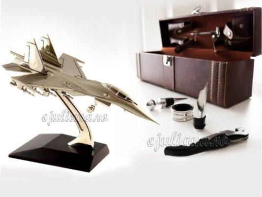 Avion de birou cutie sticla de vin pentru barbati