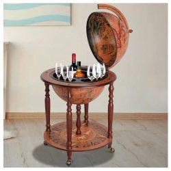 Bar glob pamantesc cabinet sticle pahare bauturi