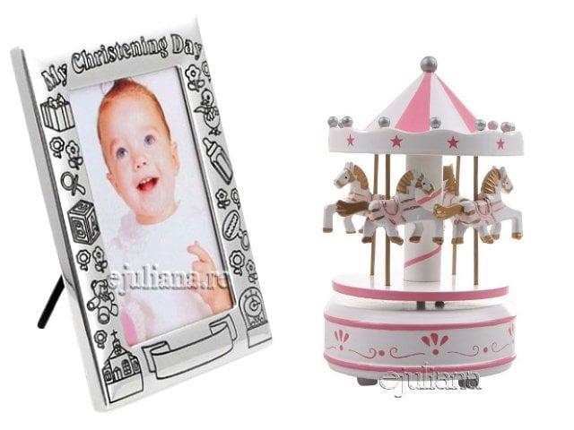 Carusel muzical rama de botez cadou pentru fetita