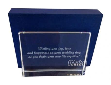 Foto cristal gravat cadou personalizat de nunta