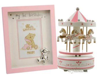 Carusel rama foto roz pentru fetita
