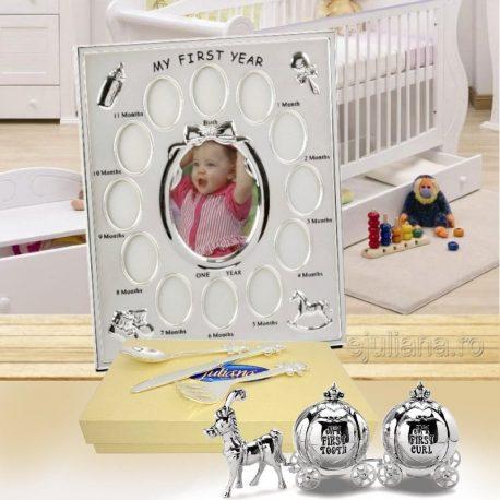 Rama primul an set mot dintisor tacamuri cadou fetita