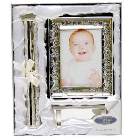 Set cadou botez album suport certificat