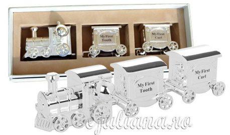 Tren argintat set mot primul dintisor