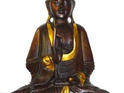 Statueta Buddha lemn auriu