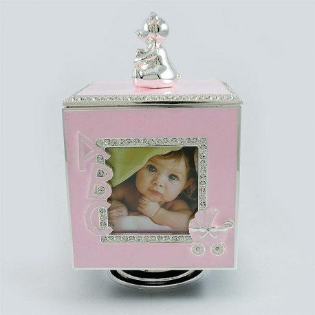 Caseta muzicala cub roz pentru fetita