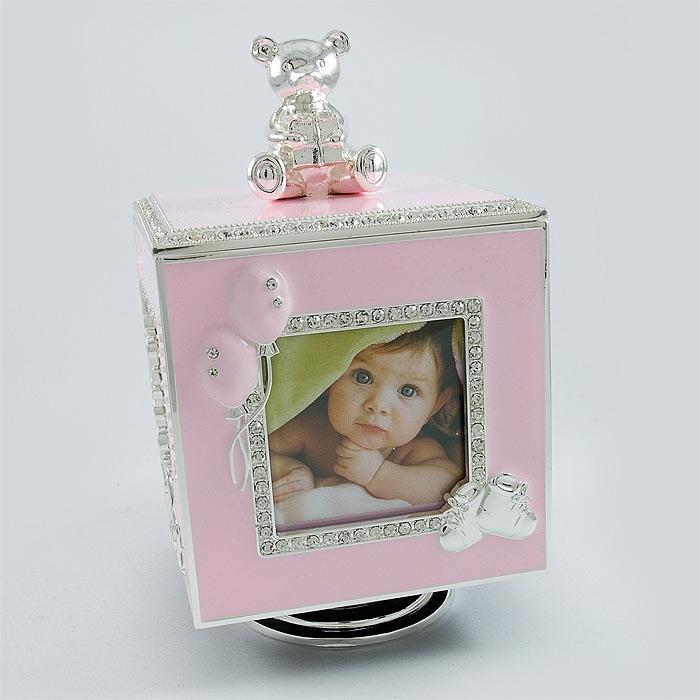 Caseta muzicala cub roz pentru fetita, Cadouri pentru nou nascuti fete