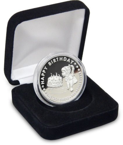moneda de argint pentru bebelusi