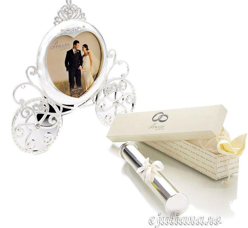 Rama caleasca suport certificat nunta cadou miri