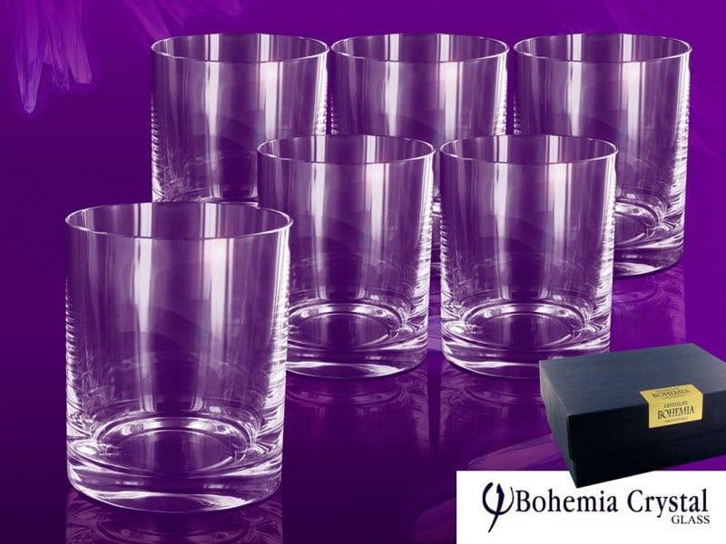 Set sase pahare de cristal de Bohemia