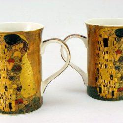 Doua cani de cafea Gustave Klimt