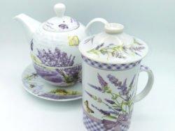Cana infuzor ceainic set lavanda