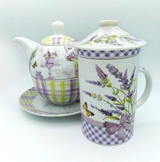 Set lavanda cana ceainic