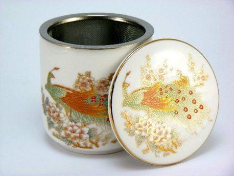 Cana de ceai cu infuzor cu paun