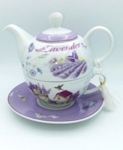 Ceainic ceasca cu lavanda si pasari