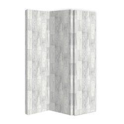 Paravan de panza decor lemn alb