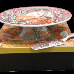 Platou pentru tort Alphonse Mucha