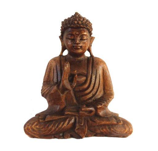 Buddha statueta de lemn 21 cm