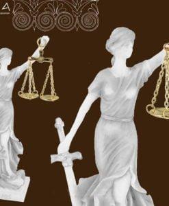 Zeita Justitiei alabastru 22cm