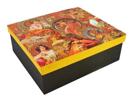 cutie cadou Vaza de portelan Alphone Mucha