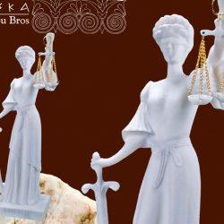 Zeita Justitiei din alabastru 25cm