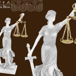 Zeita Justitiei din alabastru 22cm