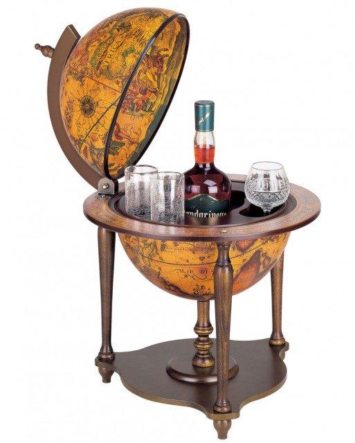 Bar cu glob antichizat Zoffoli 62cm