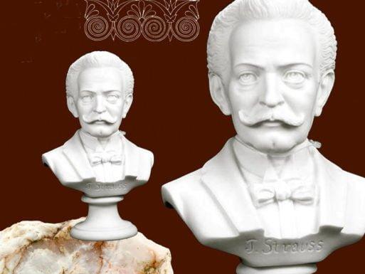 Bust alabastru Strauss
