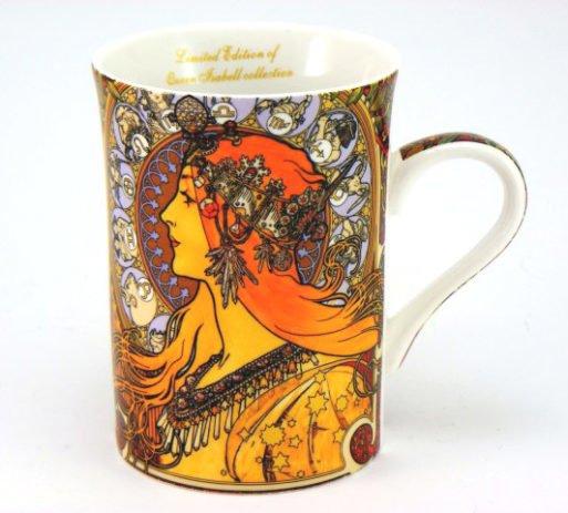 Cana portelan Zodiac Alphonse Mucha