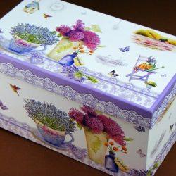 Cana set de portelan cu lavanda cutie cadou femei