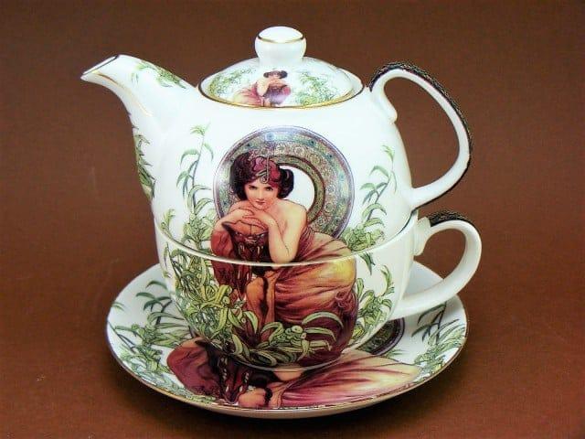 Set ceainic Alfons Mucha