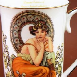 Cana de cafea Topaz Alfons Mucha