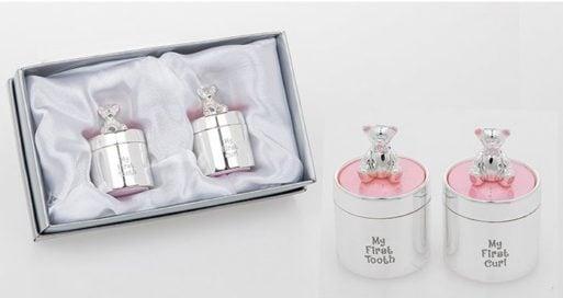 Cutiute argintate suvita dintisor ursulet roz fetita